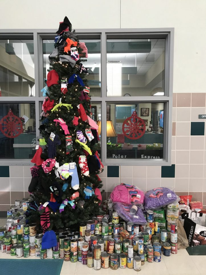 Canned Food Drive and Warm Tree
